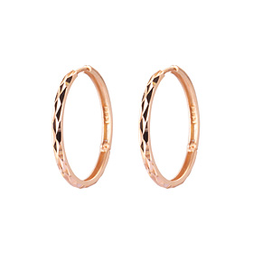 14K / 18K Mirror Coin (small) Ring Earring [3 couples 1]