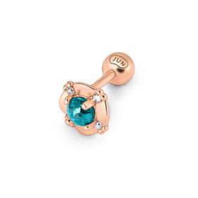 14K Magnolia Rough Diamond Piercing