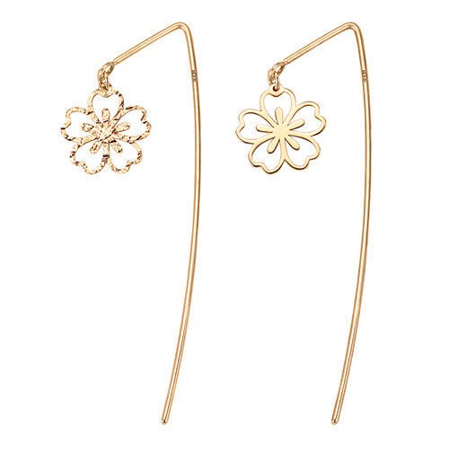 14K Shai blossom long earrings [overnightdelivery]
