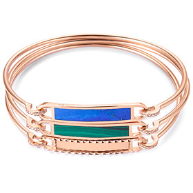 14K / 18K color bangle bracelet [3 families]
