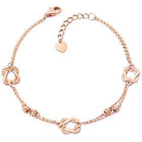 14k / 18k Heart face bracelet