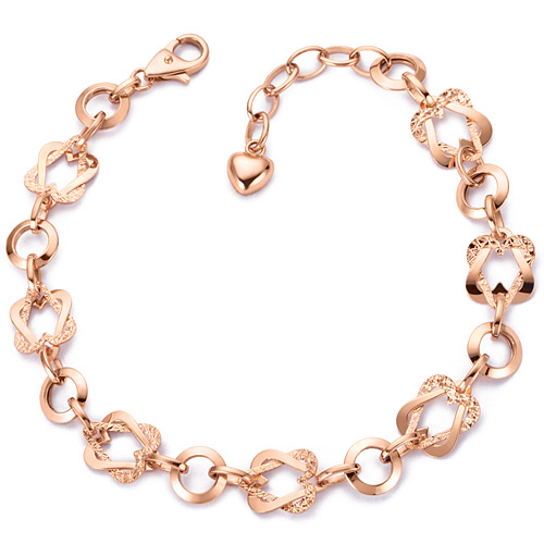 14k / 18k ring heart face bracelet
