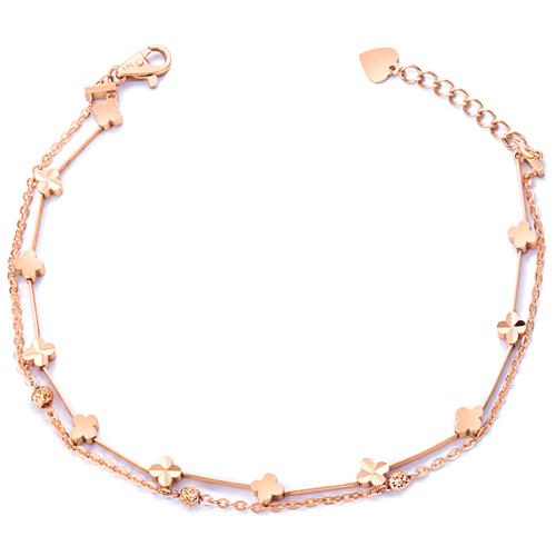 14k / 18k Lucky Clover Twine Bracelet