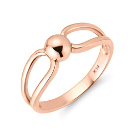 14K / 18K bead ribbon ring