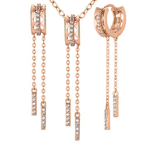 14K / 18K Tee set [Necklace + long earrings]