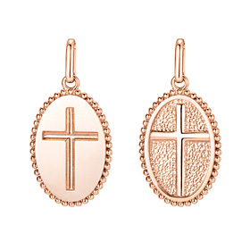 14K / 18K Circle Cross Pendants purchase only