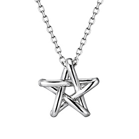 Platinum [Pt950] Volume Star Platinum Necklace