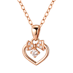 14K / 18K Ribbon Heart Necklace