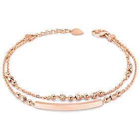 14K / 18K Stick Mirror Ball Strap Bracelet [overnightdelivery]