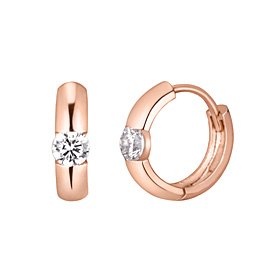 14K / 18K shine ring earring