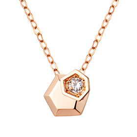 14K / 18K Twin Hexa Necklace