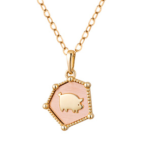 14K / 18K You Want Pig Necklace
