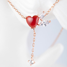 14K / 18K heart throbbing Necklace [natural Jamano]