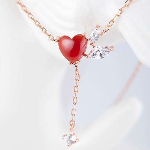 14K / 18K heart throbbing Necklace [natural Jamano]
