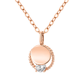 14K / 18K Circle Duo Necklace