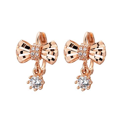 14K / 18K ribbon earring