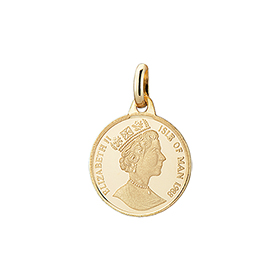 14K / 18K Queen Elizabeth Coin (small), (large) Pendants purchase only [2 couples 1]