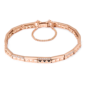 14K / 18K Shine Stud two lines bracelet