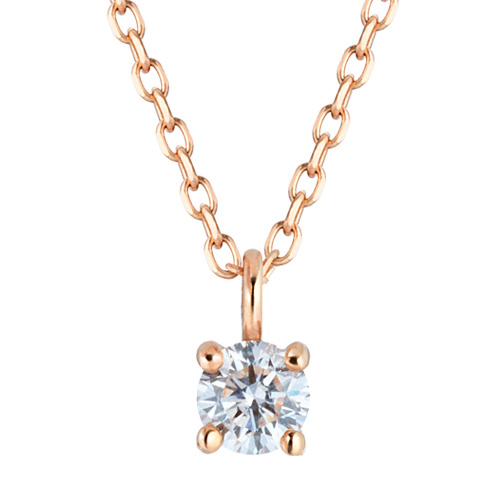 [Part 1 Contemporary Emotion] 14K / 18K crown natural diamond Necklace [overnightdelivery]