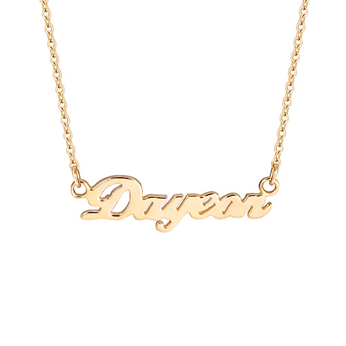 14k / 18k Name Mini Initial Necklace