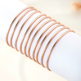 14K ten pieces Flat ring [overnightdelivery]