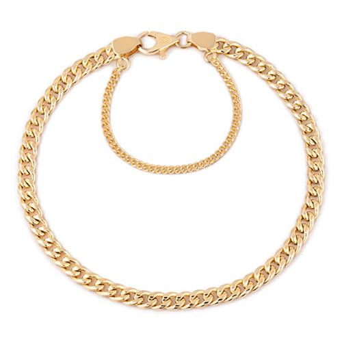 14K / 18K hollow curves JB173 bracelet [overnightdelivery]