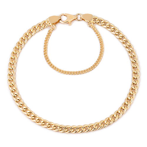 14K / 18K hollow curves JB173 bracelet [overnightdelivery]