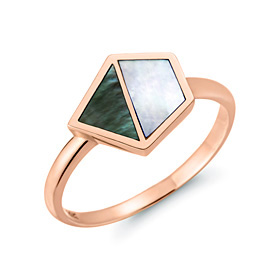 14K / 18K natural mother-of-pearl ring