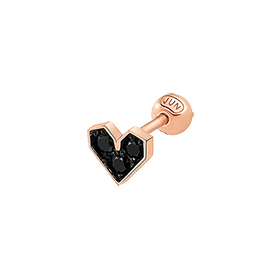 14K Deep Black Love Piercing