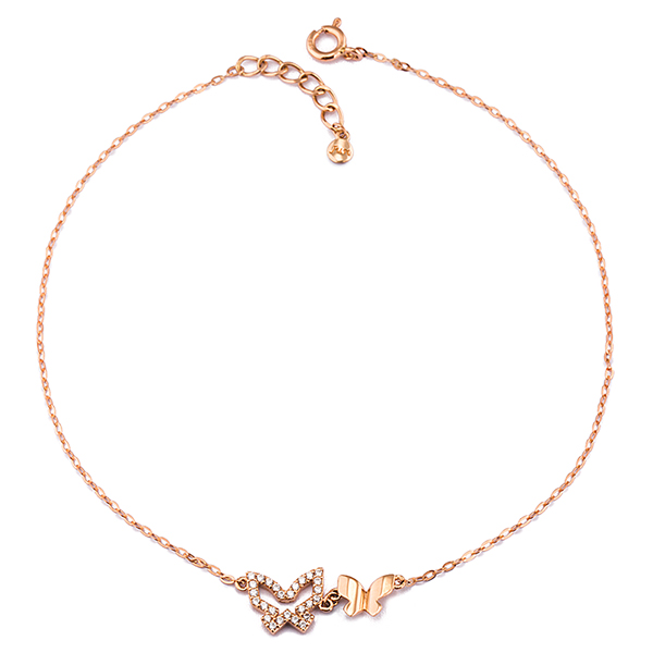 14K butterfly wings anklet [overnightdelivery]