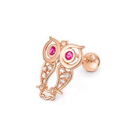 14K Berry Owl Piercing [overnightdelivery]