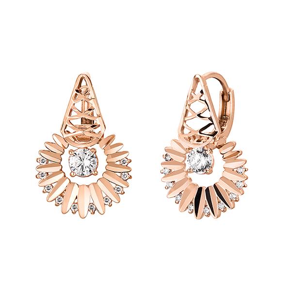 14K / 18K earring of Goddess of the sun