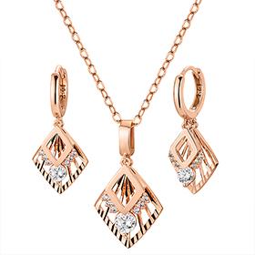 14K / 18K Venus goddess set [Necklace + earring]