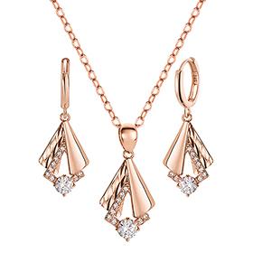 14K / 18K Athena Goddess set [Necklace + earring]