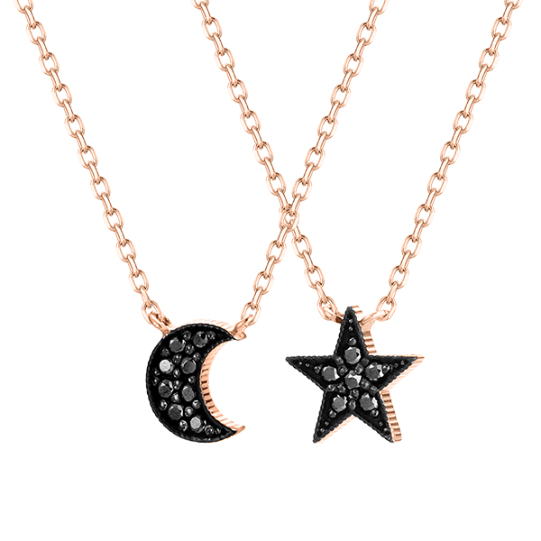 14K / 18K Starlight Moonlight Necklace [2]