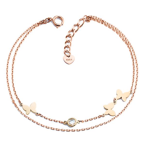 14K / 18K Butterfly bracelet [2 couples 1] [overnightdelivery]