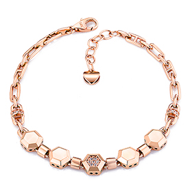 14K / 18K honeybee hexagon bracelet