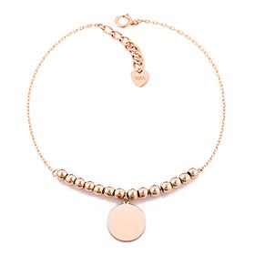 14K / 18K ratata initials bubble bracelet