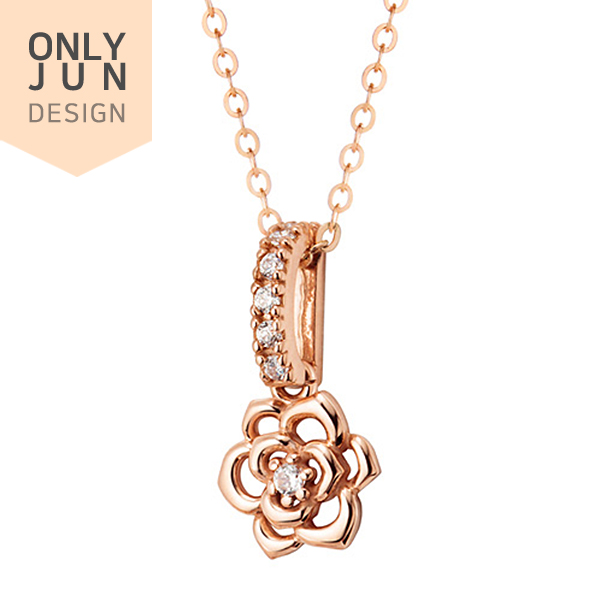 14k / 18k Minnet Rose Pendants purchase only <br> Necklace
