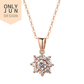14K / 18K Gardner Part 1 Necklace [overnightdelivery] [Swarovski Stone]