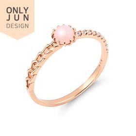 14K / 18K pink opal ring