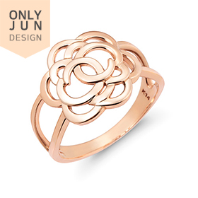 14K / 18K whitening rose ring