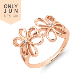14K / 18K Twin Flower Ring