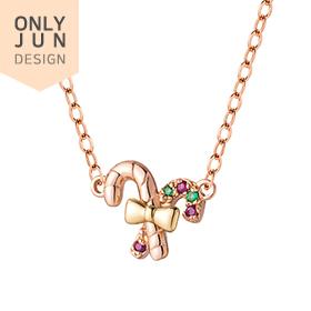 14K / 18K Christmas Lollipop Necklace [overnightdelivery]