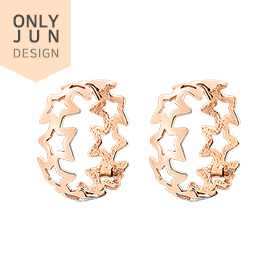 14K / 18K Real Star Skin Fit earring [overnightdelivery]