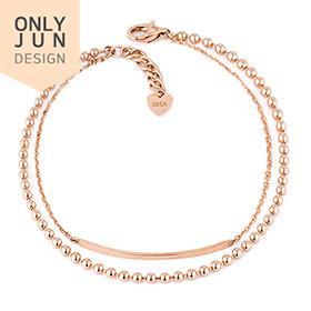 14K / 18K Bead More two lines bracelet