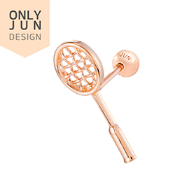 14K badminton racket piercing