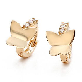 14K / 18K butterfly elf earring / earrings [overnightdelivery]