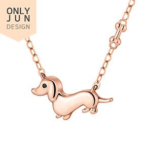 14K / 18K Happy Junpei Puppy Necklace