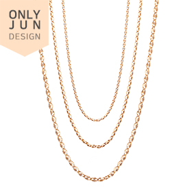 14K Shine Touch (large, large, small) Necklace Chain [3]